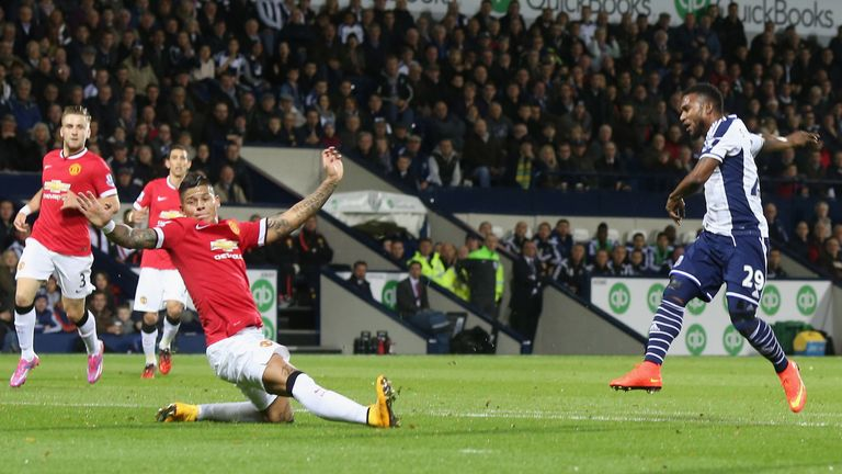 West Brom's Stephane Sessegnon exposed United's defensive weakness early on