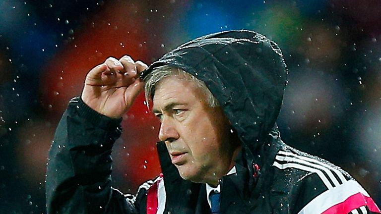 Under-pressure Real boss Carlo Ancelotti is facing the sack in Madrid