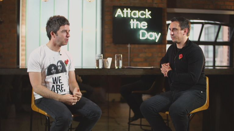 Noel Gallagher chatted to Gary Neville back in November 2014