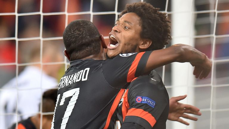 Luiz Adriano: Celebrates against BATE Borisov after another easy win