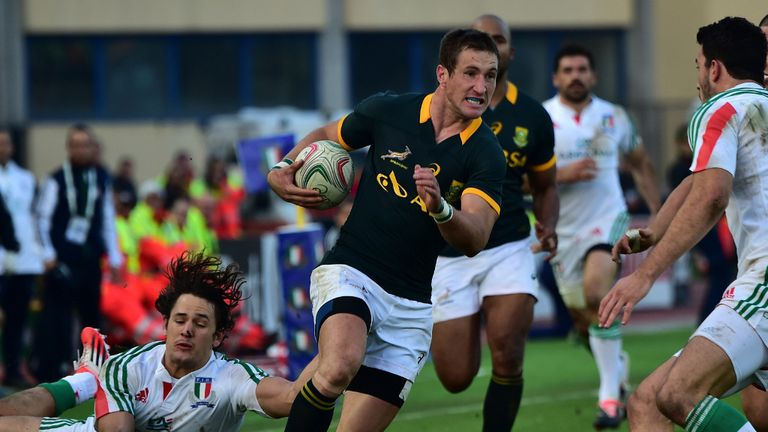 Johan Goosen on the charge for South Africa