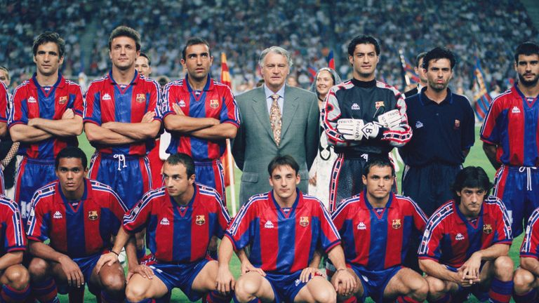 Sir Bobby Robson managed Barcelona between 1996 and 1997, winning the Copa del Rey and European Cup Winners' Cup