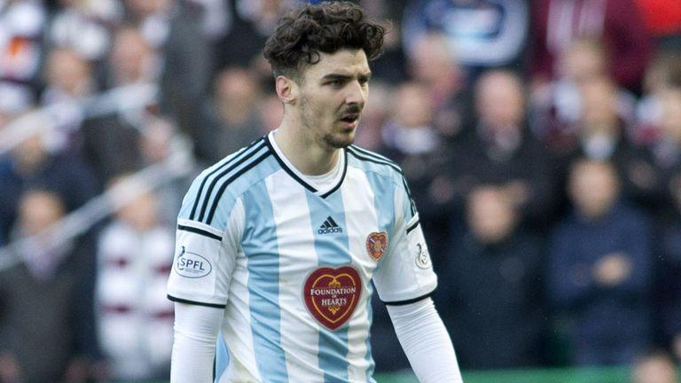 Hearts defender Callum Paterson has been called up Gordon Strachan