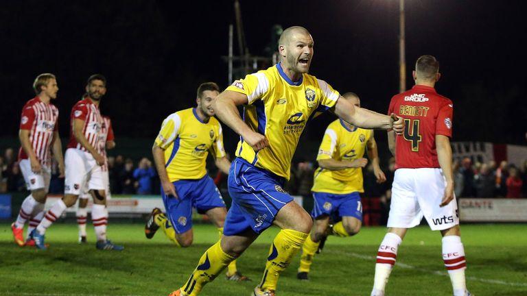 Craig Robinson: Goal hero celebrates his winner