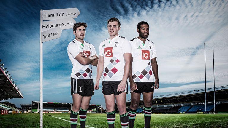 Ollie Lindsay-Hague alongside team-mates Harry Sloan and Aseli Tikoirotuma