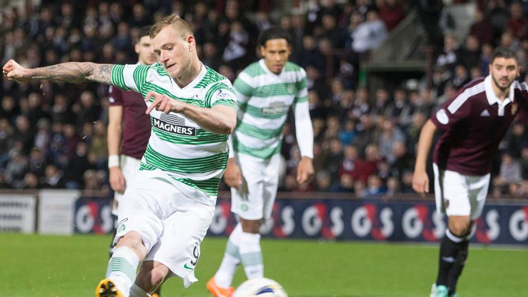John Guidetti: Scored controversial penalty during the Scottish Cup fourth-round match at Tynecastle.