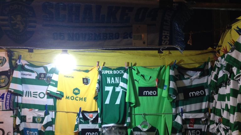 Nani's shirt on sale in Lisbon