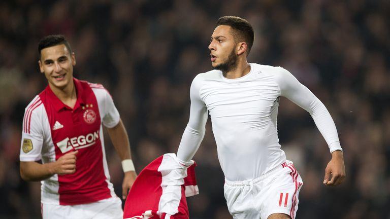 Ricardo Kishna: Celebrates his goal for Ajax