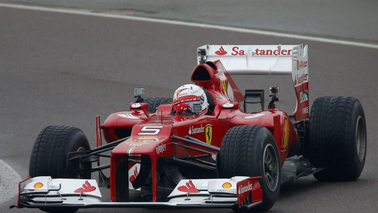 Sebastian Vettel at the wheel of the Ferrari F2012