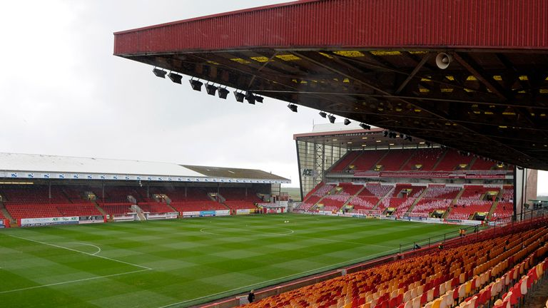 Aberdeen have played at Pittodrie since 1903, with the ground's current capacity just under 21,000