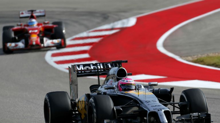 Jenson Button in action at the Circuit of The Americas