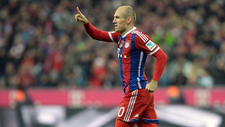 Arjen Robben celebrates after opening the scoring
