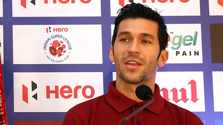 Luis Garcia plays in the Indian Super League for Kerala Blasters