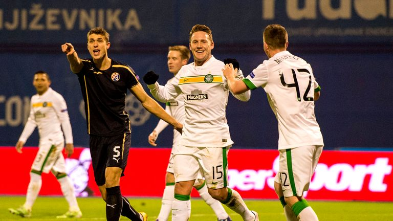 Kris Commons: Scored Celtic's first goal in Zagreb as they finished Group D in defeat