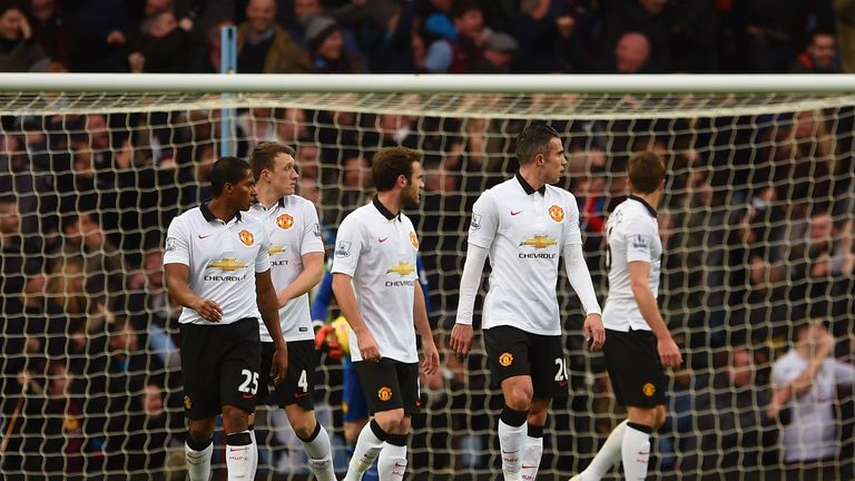 United players walk away dejected after going 1-0 down after 18 minutes
