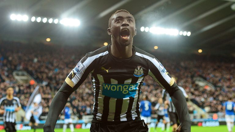 Cisse celebrates one of his 44 goals for Newcastle