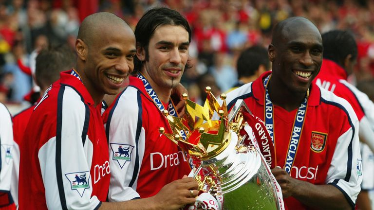 Sol Campbell won the Premier League and FA Cup twice at Arsenal