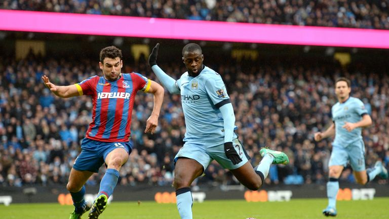 Yaya Toure scores Manchester City's third
