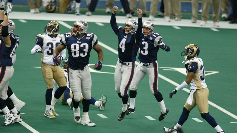 Will there be a repeat of the Patriots's Super Bowl XXXVI win over the Rams from 17 years ago?
