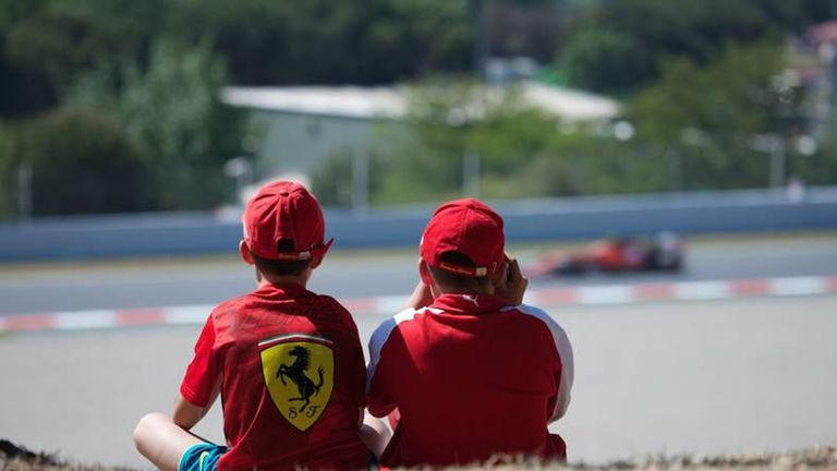 The winning entry from Mark Timms via email: Young Ferrari fans