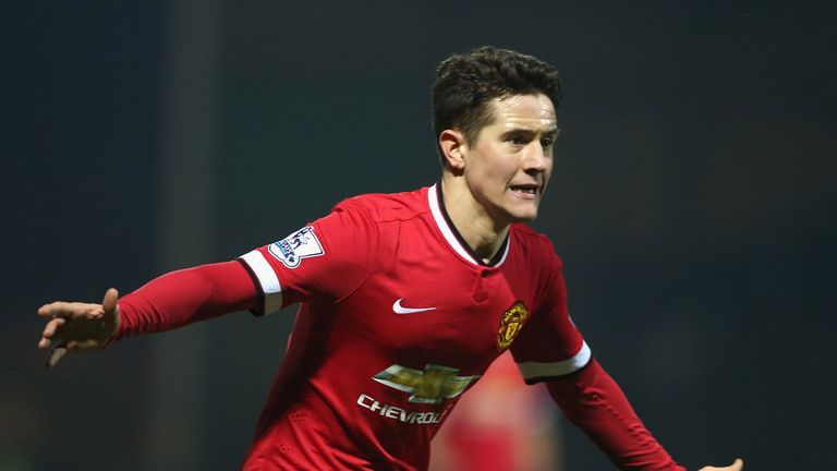 Ander Herrera: Celebrates United's first goal