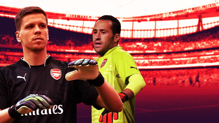 Arsenal goalkeeper Wojciech Szczesny is under pressure for his place from David Ospina
