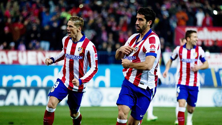 Raul Garcia celebrates scoring in the 2-0 Copa del Rey win last month