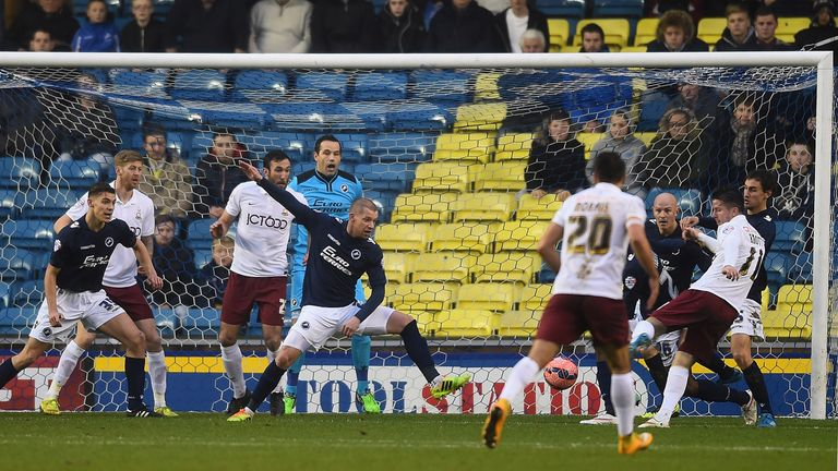 Billy Knott opened the scoring with a close-range finish at The Den