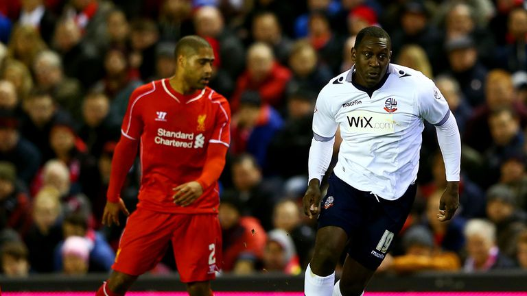 Emile Heskey: Runs with the ball past Glen Johnson