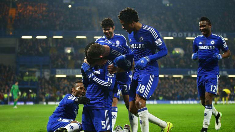 Zouma: Only his second goal for Chelsea