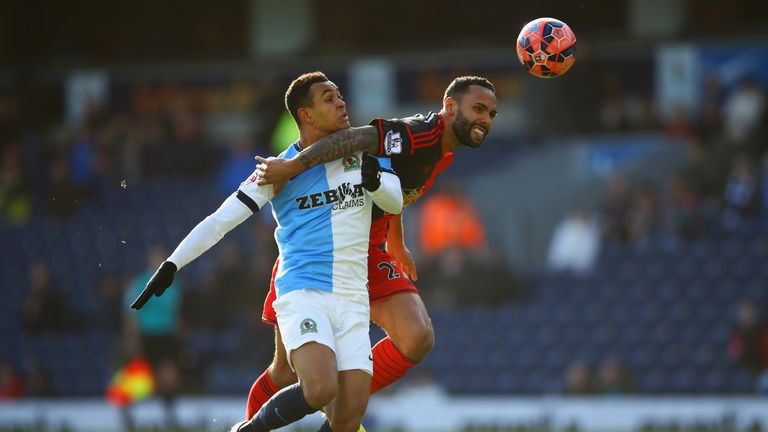Kyle Bartley fouls Joshua King to earn himself a red card