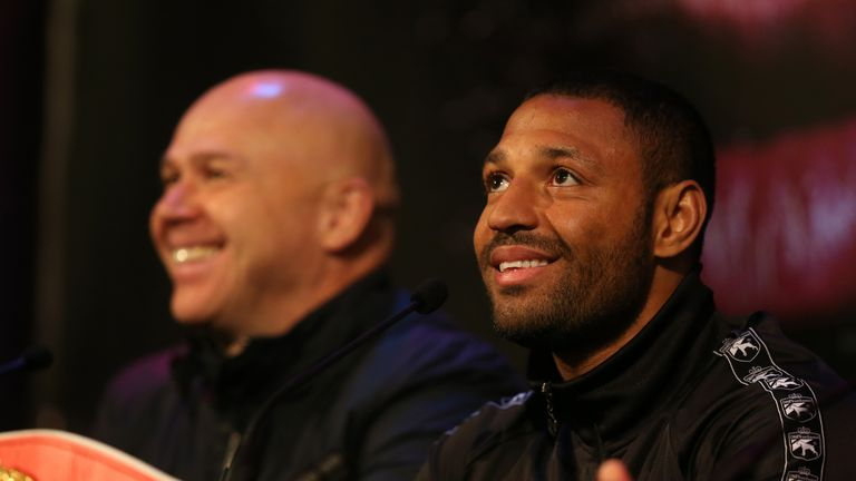Brook: With trainer Dominic Ingle at Thursday's press conference in Sheffield