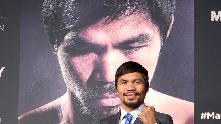 Manny Pacquiao: has been sparring with his left hand only