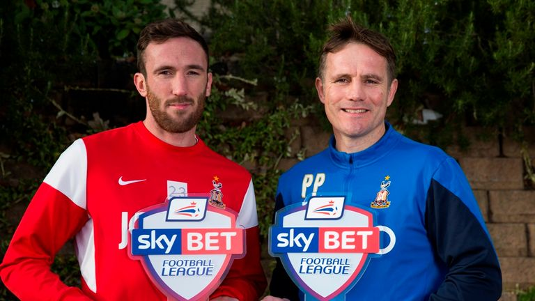 Rory McArdle and Phil Parkinson: Double award for Bradford City