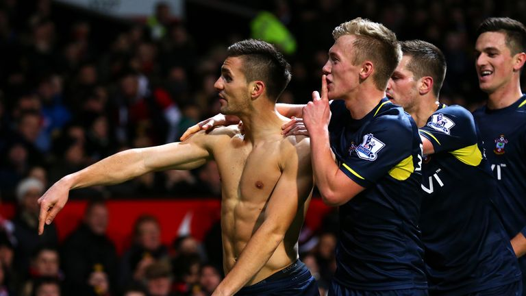 Dusan Tadic: Celebrates after scoring the winner at Old Trafford