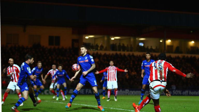 Victor Moses scores a superb third for Stoke in the second half