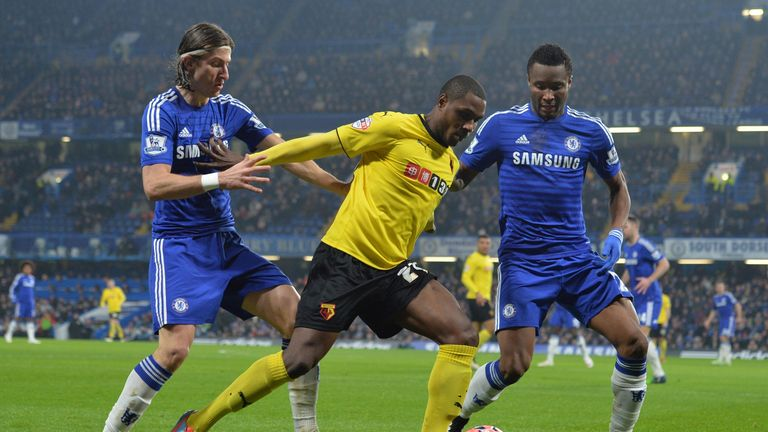 Odion Ighalo: Holds offJohn Obi Mikel and Filipe Luis