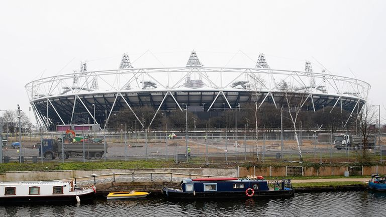 The worker was helping transform the Olympic Stadium
