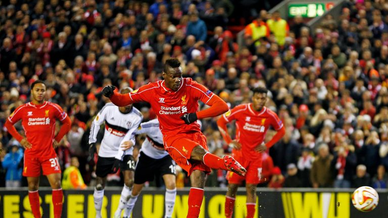 Mario Balotelli scores the winner for Liverpool from the spot