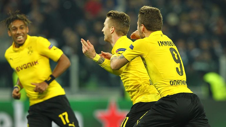 Marco Reus equalised for Dortmund in the first half