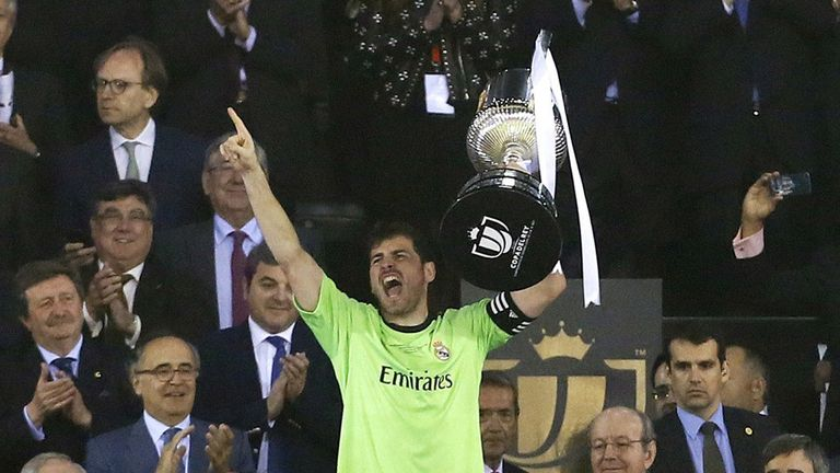 Real Madrid's Iker Casillas lifted the Copa Del Rey last year