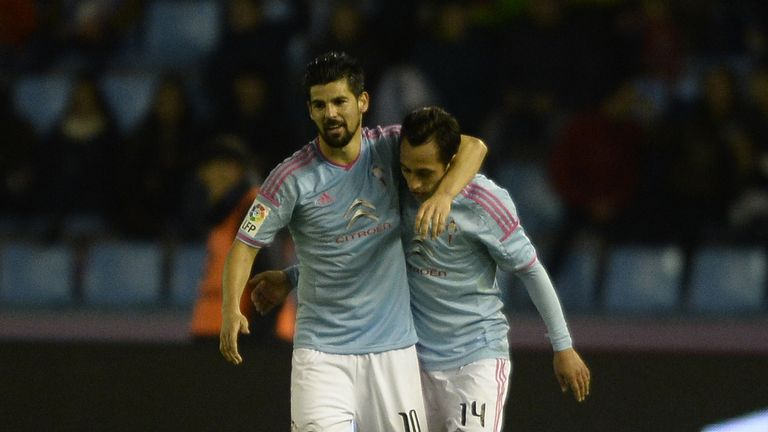 Nolito (l): Match-winner for Celta