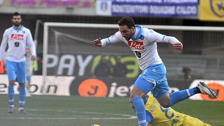 Gonzalo Higuain in action for Napoli
