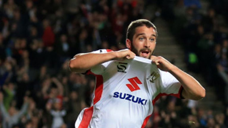 Will Grigg: At the double for MK Dons