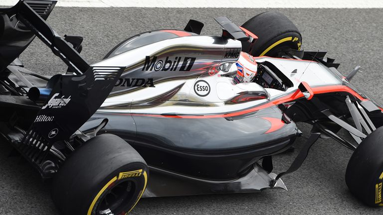 Jenson Button (GBR) McLaren MP4-30 at Formula One Testing, Day Three, Barcelona, Spain, 21 February 2015..