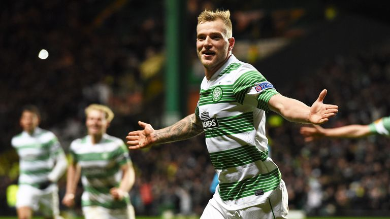 John Guidetti: Celebrates scoring Celtic's third goal