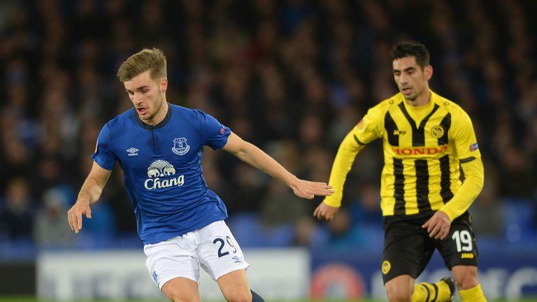 Luke Garbutt impressed in action for Everton
