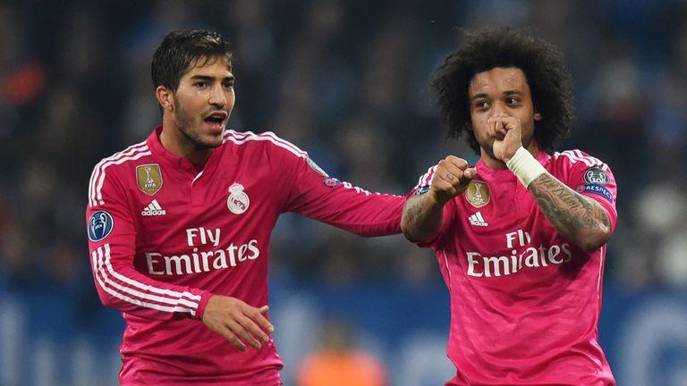 Marcelo and Lucas Silva celebrate
