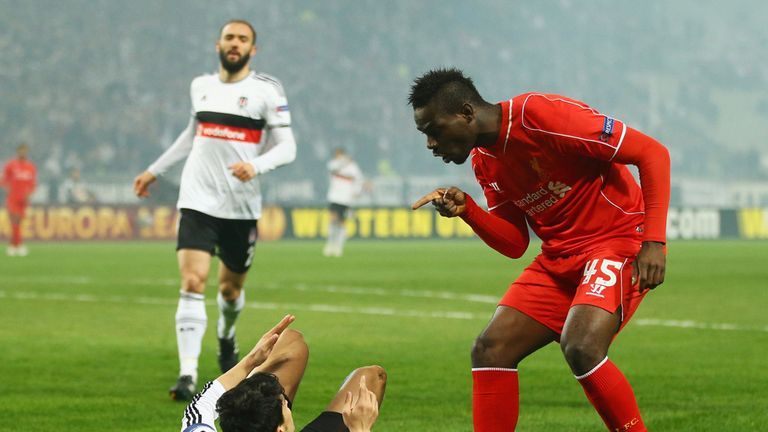 Balotelli was targetted in the first half by Besiktas