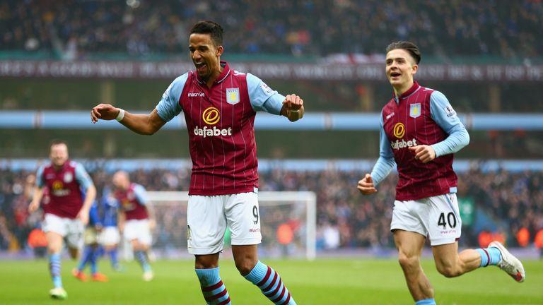 Scott Sinclair: celebrates scoring the second goal against Leicester City